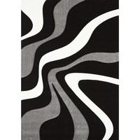 Maison & Déco Tapis Unamourdetapis Tapis design et moderne Diamond Vagues Noir 40x60 cm Noir