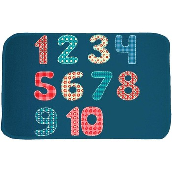 Tapis House Of Kids Tapis enfant Ultra Doux Chiffres Bleu 70x95 cm