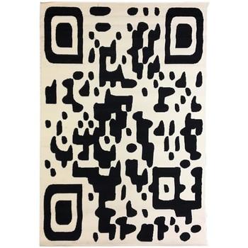 Maison & Déco Tapis Dezenco Tapis design et moderne Bc Qr Code Noir 120x170 cm Noir