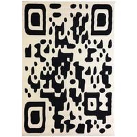 Maison & Déco Tapis Dezenco Tapis design et moderne Bc Qr Code Noir 140x200 cm Noir