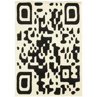 Maison & Déco Tapis Dezenco Tapis design et moderne Bc Qr Code Noir 80x150 cm Noir