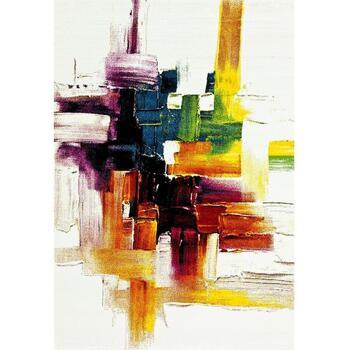 Maison & Déco Tapis Unamourdetapis Tapis design et moderne Belo 3 Crème 160x160 carre cm Crème