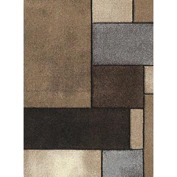 Maison & Déco Tapis Unamourdetapis Tapis design et moderne Brillance Geometrique Beige 80x150 cm Beige