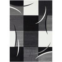 Maison & Déco Tapis Unamourdetapis Tapis design et moderne Diamond Comma Gris 200x290 cm Gris