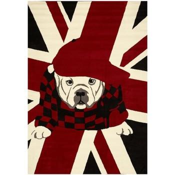 Maison & Déco Tapis Unamourdetapis Tapis enfant London Dog Rouge 80x150 cm Rouge