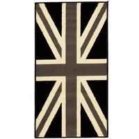 Maison & Déco Tapis Dezenco Tapis enfant Bc Union Jack Black And Withe Gris 140x200 cm Gris