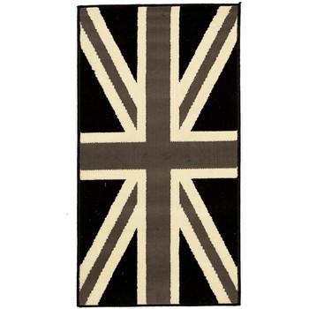 Maison & Déco Tapis Dezenco Tapis enfant Bc Union Jack Black And Withe Gris 200x290 cm Gris