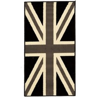 Maison & Déco Tapis Dezenco Tapis enfant Bc Union Jack Black And Withe Gris 60x110 cm Gris