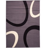 Maison & Déco Tapis Dezenco Tapis design et moderne Tempo Gris 60x110 cm Gris