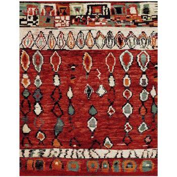 Maison & Déco Tapis Unamourdetapis Tapis design et moderne Berber Morocco Rouge 200x290 cm Rouge