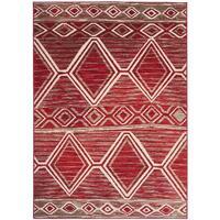 Maison & Déco Tapis Unamourdetapis Tapis design et moderne Bc Berbere Rouge 200x290 cm Rouge