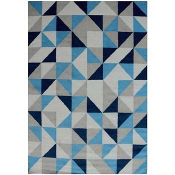 Maison & Déco Tapis Unamourdetapis Tapis kilim Scandivian Bleu 80x300 cm Bleu