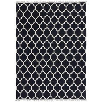 Maison & Déco Tapis Unamourdetapis Tapis kilim Afrira Noir 80x150 cm Noir
