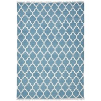 Maison & Déco Tapis Unamourdetapis Tapis kilim Afrira Bleu 80x150 cm Bleu