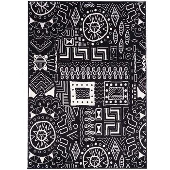Maison & Déco Tapis Unamourdetapis Tapis design et moderne Bc Motif Noir 60x110 cm Noir