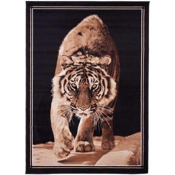 Maison & Déco Tapis Unamourdetapis Tapis design et moderne Bc Tiger Noir 80x150 cm Noir