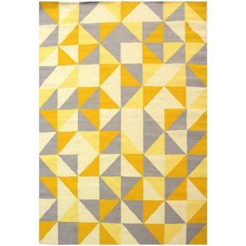 Maison & Déco Tapis Unamourdetapis Tapis kilim Scandivian Jaune 110x160 cm Jaune