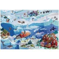 Maison & Déco Enfant Tapis House Of Kids Tapis enfant Circuit Banquise Bleu 100x140 cm Bleu