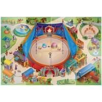 Maison & Déco Enfant Tapis House Of Kids Tapis enfant Circuit Cirque Multicolore 100x140 cm Multicolore