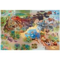 Maison & Déco Enfant Tapis House Of Kids Tapis enfant Circuit Dinosaures Multicolore 100x140 cm Multicolore