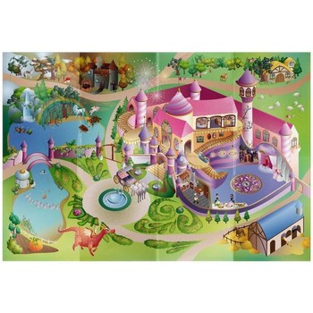 Tapis House Of Kids Tapis enfant Circuit Princess Multicolore 100x140 cm