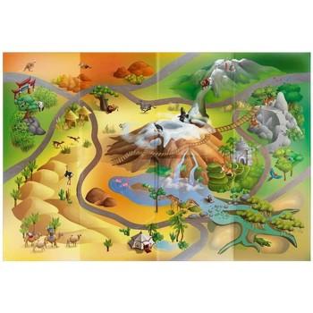 Tapis House Of Kids Tapis enfant Circuit Savane Multicolore 100x140 cm