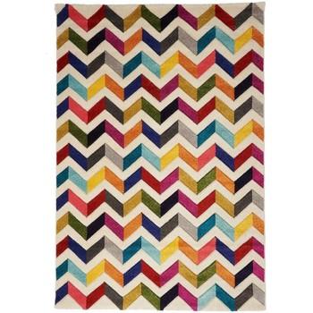 Maison & Déco Tapis Unamourdetapis Tapis design et moderne Chevron Boutik Multicolore 80x150 cm Multicolore