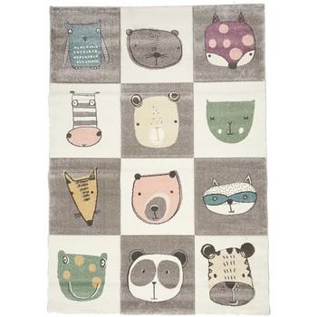 Maison & Déco Enfant Tapis Unamourdetapis Tapis enfant Zoo Too Gris 140x140 carre cm Gris