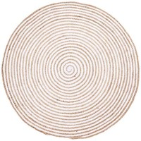 Maison & Déco Tapis Unamourdetapis Tapis kilim Spiraltry Blanc 150x150 rond cm Blanc