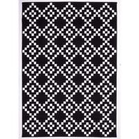 Maison & Déco Tapis Unamourdetapis Tapis design et moderne Af Lerum Noir 80x150 cm Noir