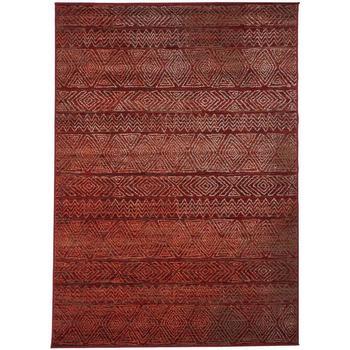 Maison & Déco Tapis Unamourdetapis Tapis design et moderne Af Chila Rouge 80x150 cm Rouge