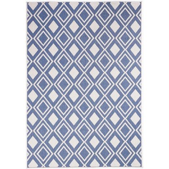 Maison & Déco Tapis Unamourdetapis Tapis exterieur Af Damlos Reversible Bleu 60x110 cm Bleu