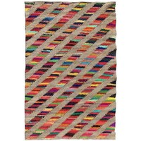 Maison & Déco Tapis Unamourdetapis Tapis kilim Rainbow Jute Et Fil Recycle Multicolore 80x150 cm Multicolore