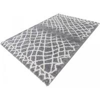 Maison & Déco Tapis Unamourdetapis Tapis shaggy poils long Manel Gris 80x150 cm Gris