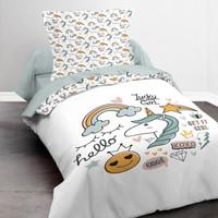 Maison & Déco Fille Parures de lit Today KOOL 1.11 Blanc