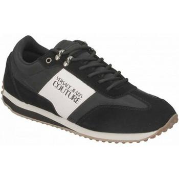 Chaussures Homme Baskets basses Versace Basket homme VERSACE E0YUBSE1 Rétro noir blanche Noir
