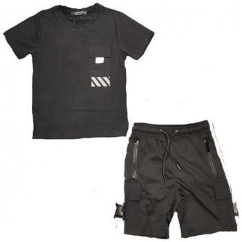 Vêtements Enfant Ensembles enfant Boom Kids Ensemble junior short et tee shirt  noir -622-2 Noir