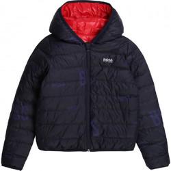 Vêtements Enfant Doudounes BOSS Doudoune junior Hugo  reversible J26416 BLEU/ROUGE Rouge