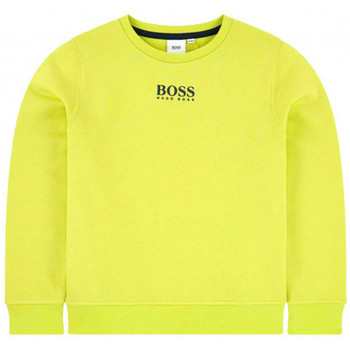 Vêtements Enfant Sweats BOSS Sweat junior Hugo  vert fluo J25G63 Vert