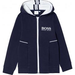 Vêtements Enfant Sweats BOSS Sweat junior Hugo  bleu marine J25J09/09B Bleu