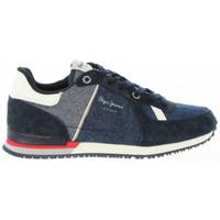 Chaussures Baskets basses Pepe jeans Chaussure junior PBS30318 SYDNEY bleu Bleu