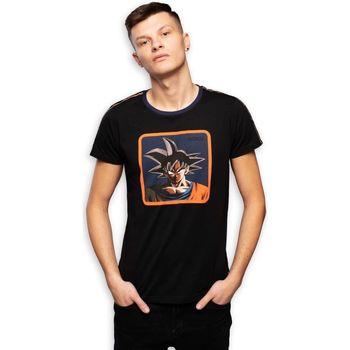 Vêtements Homme T-shirts manches courtes Capslab T-Shirt homme Dragon Ball Z Goku Noir Noir