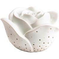 Maison & Déco Lampes à poser Zen Et Ethnique Lampe à poser Rose blanche Fonctionnant sur piles Blanc