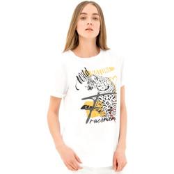 Vêtements Femme T-shirts manches courtes Fracomina FR21ST3007J40110 Blanc