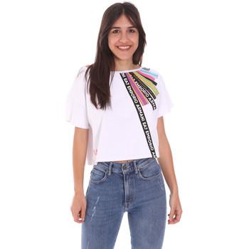 Vêtements Femme T-shirts manches courtes Ea7 Emporio Armani 3KTT40 TJ39Z Blanc