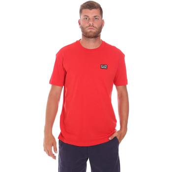 Vêtements Homme T-shirts manches courtes Ea7 Emporio Armani 3KPT63 PJ6EZ Rouge