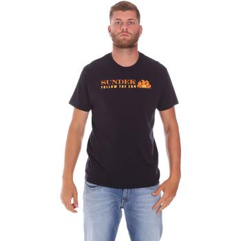 Vêtements Homme T-shirts manches courtes Sundek M049TEJ7800 Noir