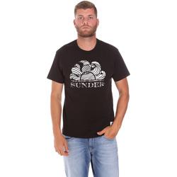 Vêtements Homme T-shirts manches courtes Sundek M027TEJ78ZT Noir