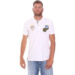 Vêtements Homme Polos manches courtes Lumberjack CM45940 019EU Blanc