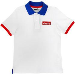 Vêtements Enfant Polos manches courtes Diadora 102175907 Blanc